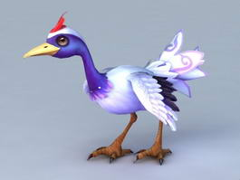 Cartoon Crane Bird 3d model