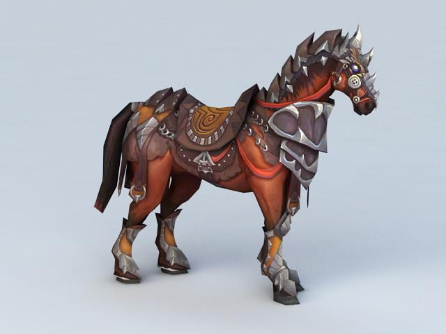 Medieval War Horse 3d Model Autodesk Fbx Files Free