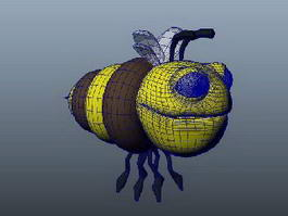 Cartoon Honey Bee 3d model