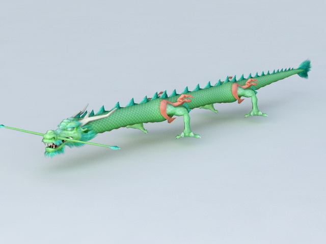 Green Chinese Dragon 3d model