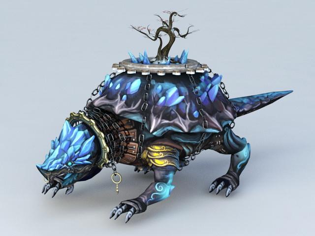 Xuanwu Tortoise 3d model