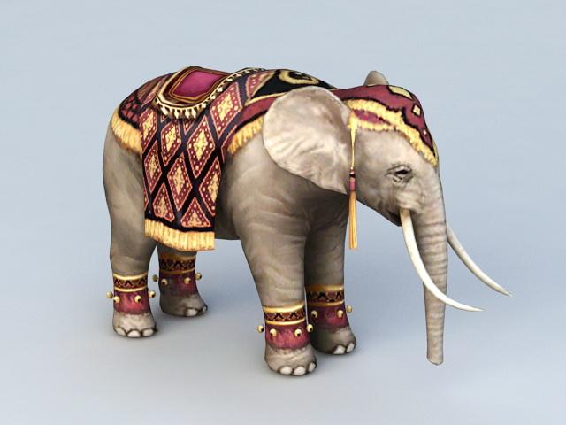 Persian Elephant 3d model