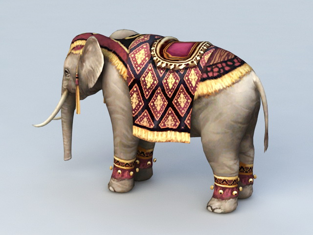Persian Elephant 3d Model 3ds Max Files Free Download
