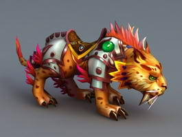 Anime Leopard Mount 3d model