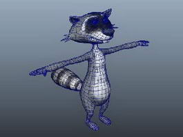 Raccoon Cartoon Character 3d model
