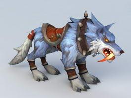 Blue Wolf Mount 3d model