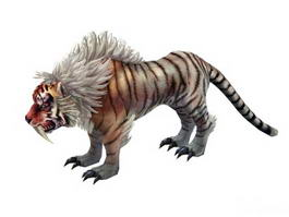 Mythical Tiger 3d model