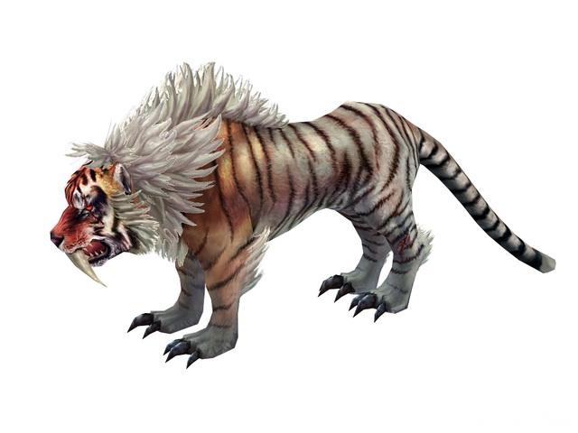 Mythical Tiger 3d model