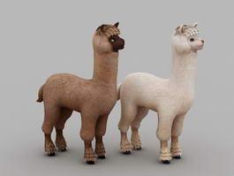 Cute Alpaca 3d model