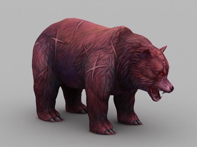 Red Bear 3d model