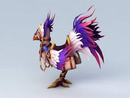 Purple Chocobo 3d model