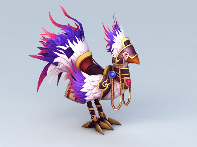 Purple Chocobo 3d model 3ds Max files free download ...