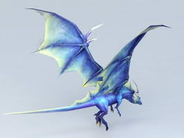 Blue Fairy Dragon 3d model