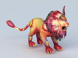 Fire Lion Monster 3d model
