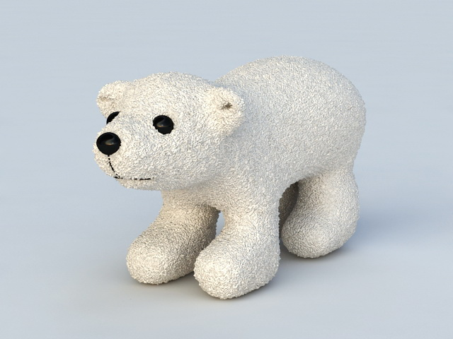 Polar Bear Toy 3d Model 3ds Max Files Free Download
