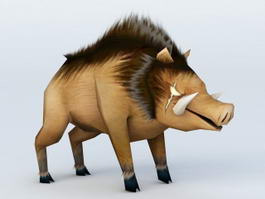 Cartoon Boar 3d model