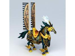 Anime War Horse 3d model