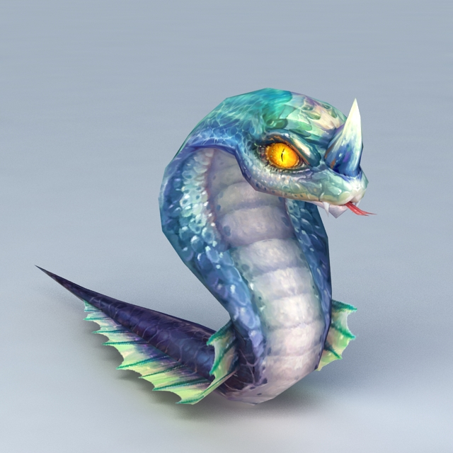 Anime Snake 3d Model 3ds Max Files Free Download