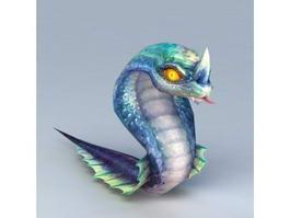 Anime Snake 3d model