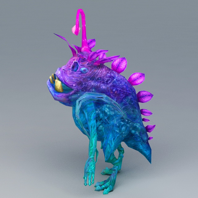 Cartoon Tiny Monster 3d rendering