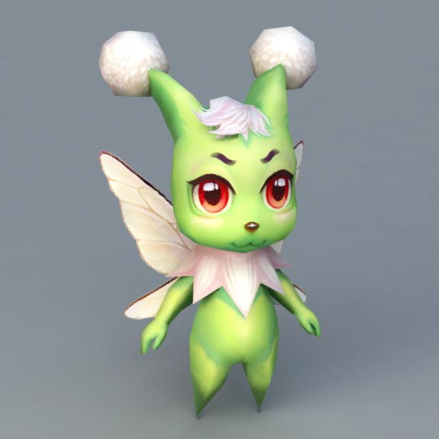 Green Spirit Beast 3d model