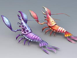 Clawed Lobsters 3d model