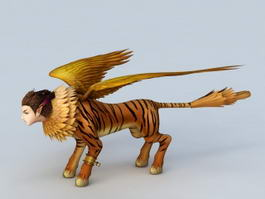 Weretiger with Wings 3d model