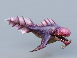Devil Fish Monster 3d model