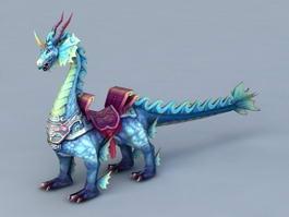 Lion Dragon Creature 3d model