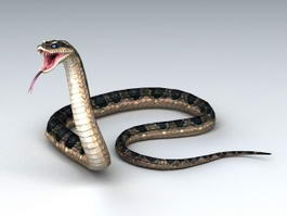 Animated Snake Attacking 3d model