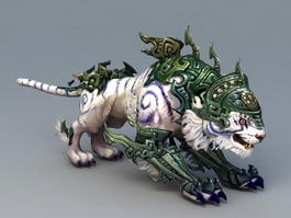 Armored White Tiger 3d model