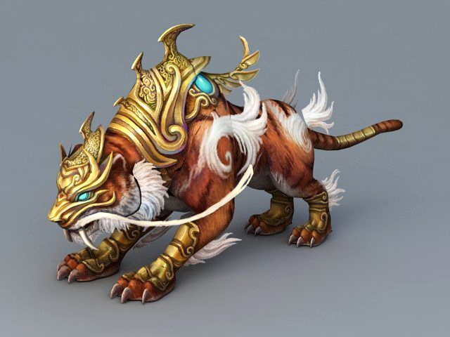 Armored Tiger Mount 3d Model 3ds Max Object Files Free