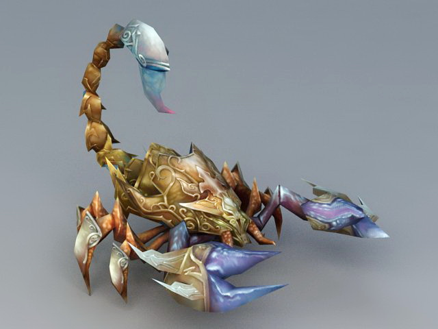 Scorpion Monster 3d rendering
