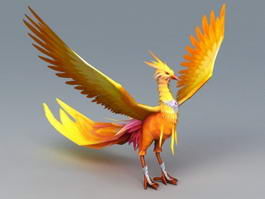 Mythical Phoenix Bird 3d model