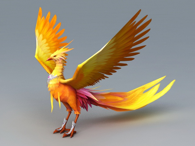 Mythical Phoenix Bird 3d Model 3ds Max Files Free Download