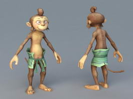Cartoon Monkey Man 3d model