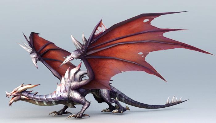 Drake Dragon Creature 3d Model 3ds Max Files Free Download