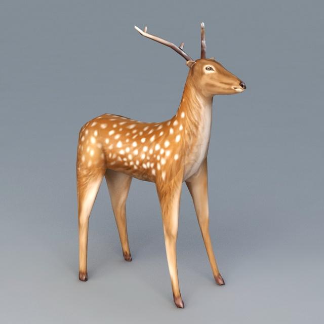 White Spotted Deer 3d model