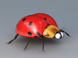 Seven-spotted Ladybug 3d model
