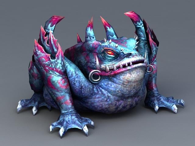 Frog Monster Creature 3d model