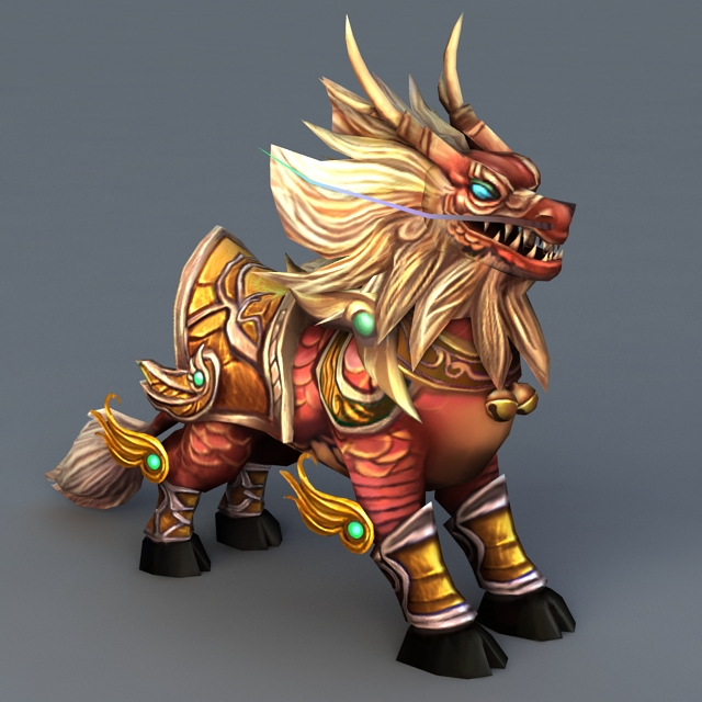Japanese Mythical Creature Qilin 3d Model 3ds Max Files