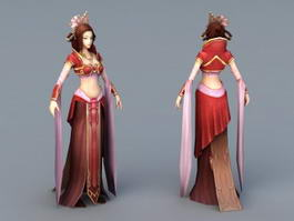 Chinese Folk Dancer 3d model