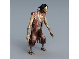 Biped Zombie 3d model