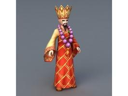 Shaolin Monk Master 3d model