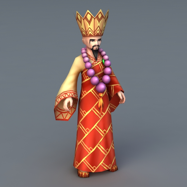 Shaolin Monk Master 3d model