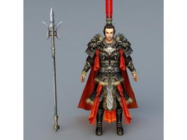 Ancient Chinese Warlord 3d model
