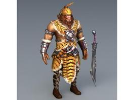 Barbarian Warrior Concept Art 3d model