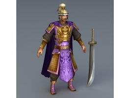 Ming Dynasty Soldier 3d model