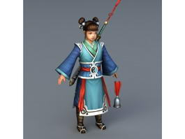 Chinese Female Taoist Priest 3d model