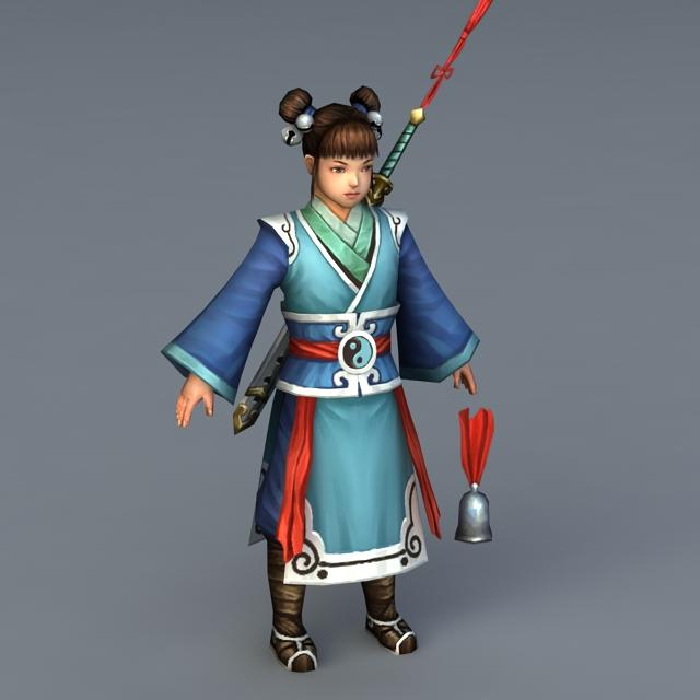 Chinese Female Taoist Priest 3d model